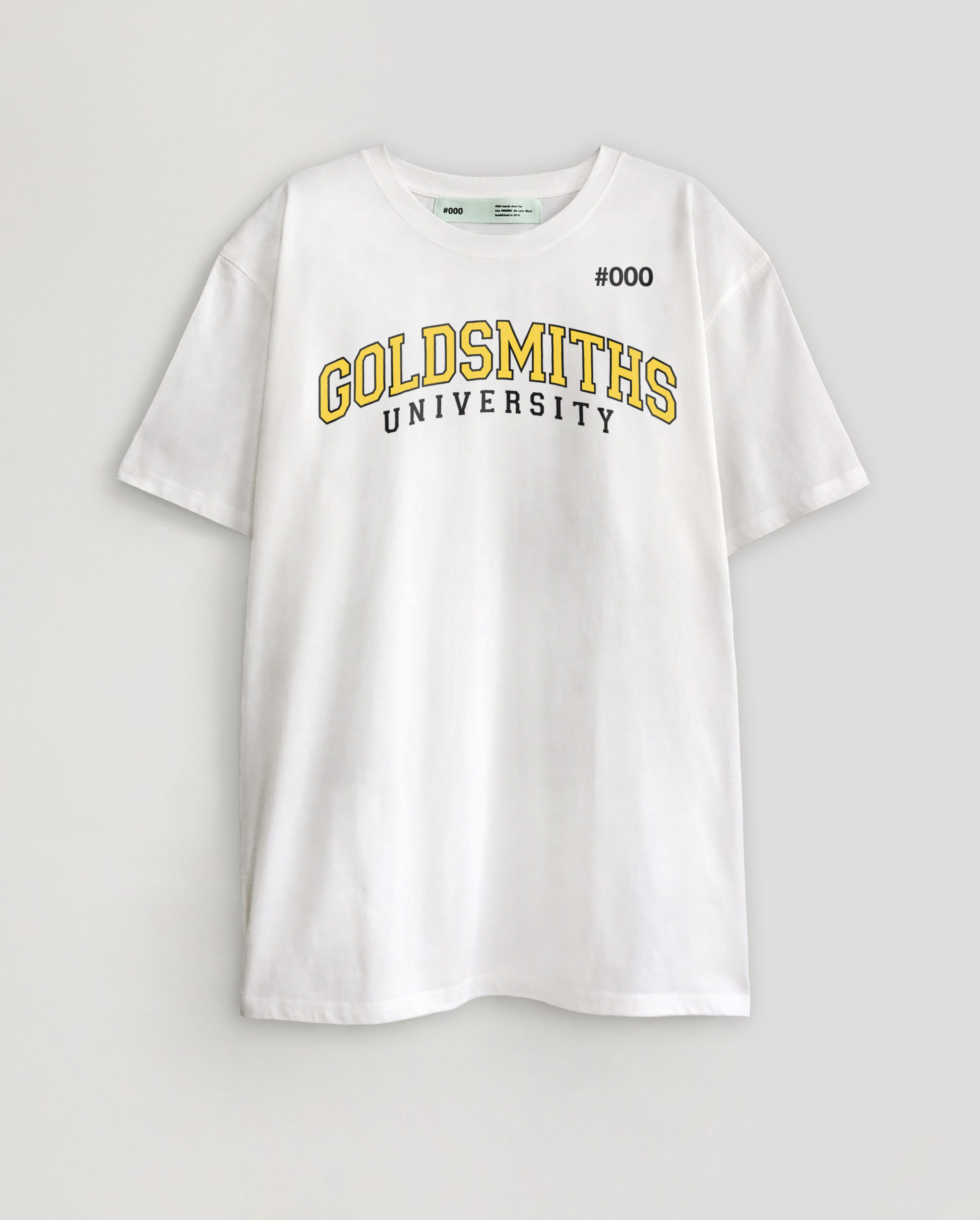 #000 X GOLDSMITHS T-SHIRT #7YELLOW